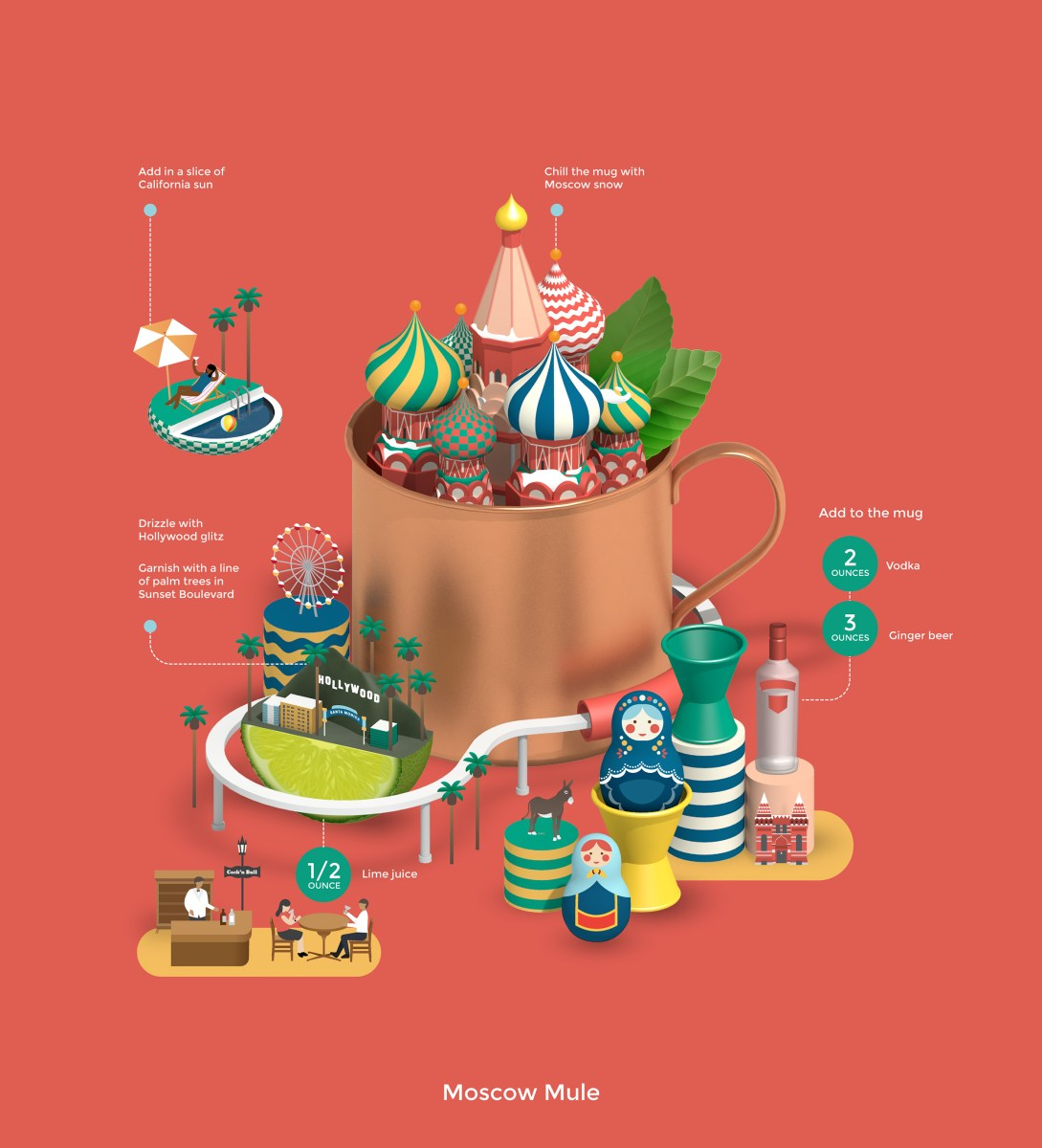 Classic Cocktail Recipes Told With Elaborate Infographics